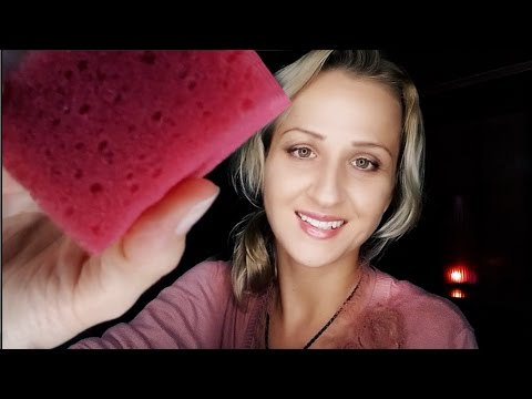 💧SPONGY ASMR Spa and Face Cleaning 💧 Spraying Directly Onto Your Face   Soothing Social Anxiety