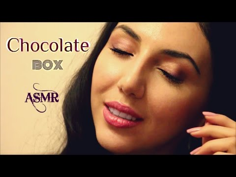 ASMR Tapping CHOCOLATE BOX & ASMR Whisper Relaxing Sounds