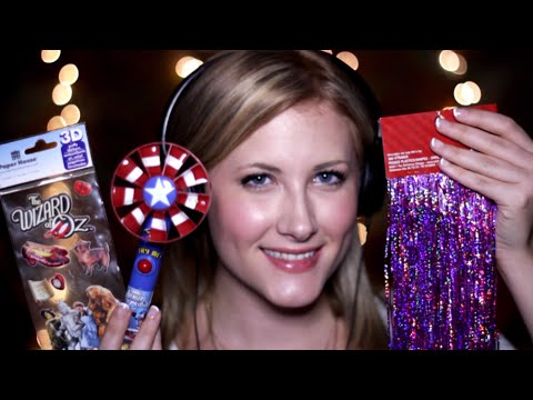 Raw Tingles: Candy Fan, Puffy Stickers, Tinsel (Binaural ASMR, Soft Speaking, Ear to Ear Sounds)