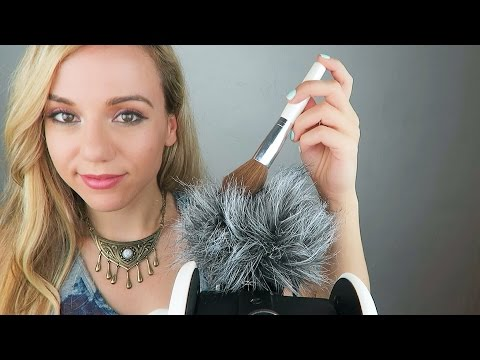 ASMR Mic Brushing and Soft Ear to Ear Whispers