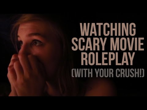 [ASMR] Watching Scary Movie Roleplay (with your crush!)
