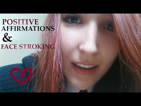 ASMR - CARING FRIEND ~ Helping You Get to Sleep! Positive Affirmations & Face Stroking ~