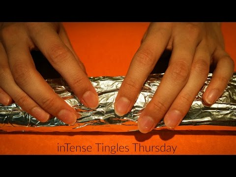 Binaural ASMR ♥ Relaxing Tin Foil Sounds