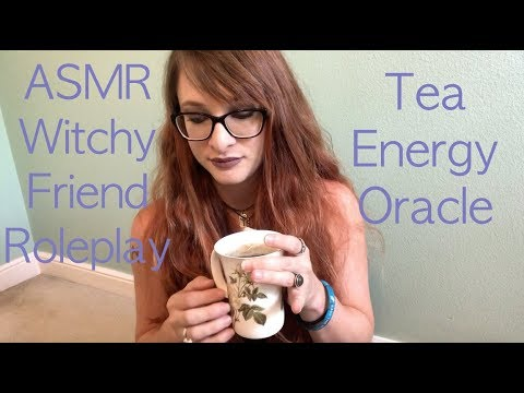 ASMR Witchy Friend Roleplay Tea Energy Healing Oracle Card Reading