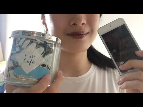 ASMR Tapping and Scratching iPod and Candle📱   glass, metal sounds   NO TALKING