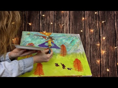ASMR BINAURAL PAINTING ON CANVAS   Just Sounds