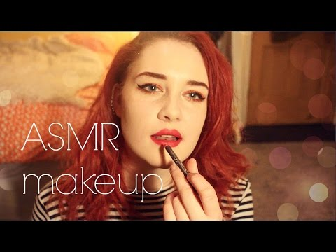 ♡ ASMR (whispered) my makeup collection + routine 2016 ♡