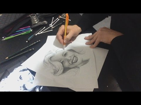 ASMR Graphite Drawing of Marilyn Monroe