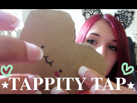 ASMR - FAST & SLOW TAPPING ~ Tapping on Cardboard, Plastic, Jar Lid & Book ~