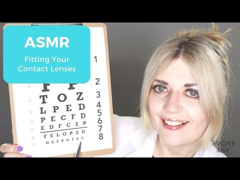 ASMR Fitting Your Contact Lenses | Follow The Light, Personal Attention, Latex Gloves, Whispering