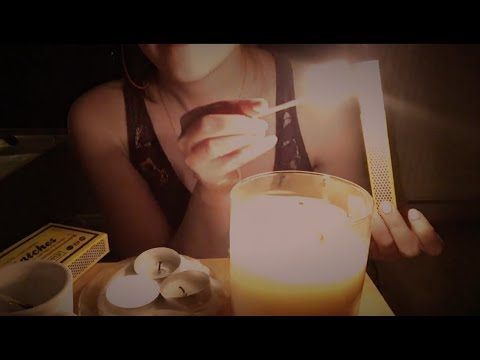 ASMR Match and Candle Lighting 💜 100 Subscribers Special 💜  | New microphone