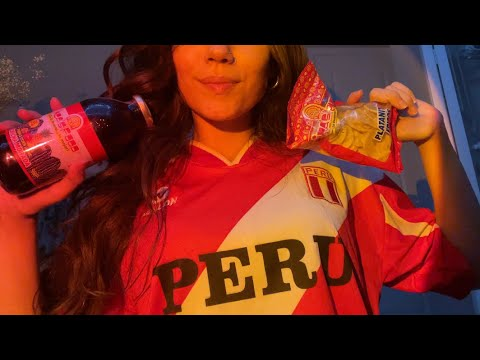 Asmr in Spanish - unboxing Peruvian snacks ~ crinkles, hand movements, tapping, whispering