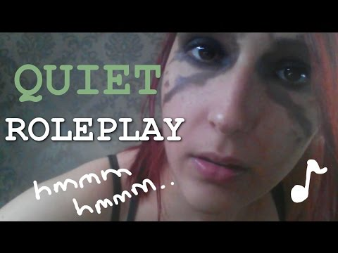 ASMR - QUIET ROLEPLAY ~ Humming, Ear Eating, Face Stroking & Rain Sounds ~