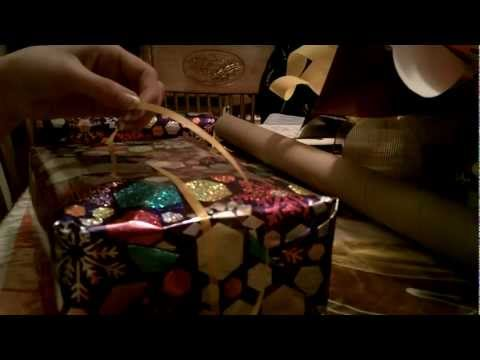 #75 ASMR Wrapping Another Present (Crinkling, Cutting, Tape Etc)