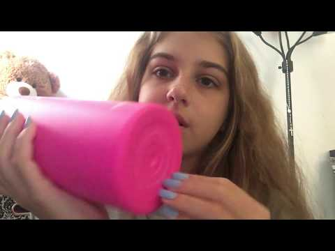ASMR - mini haul and rambling - crinkles, tapping, scratching, liquid sounds