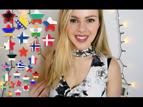 ASMR Trigger Words in 32 Languages (Ear to Ear Whispers/Soft Spoken)