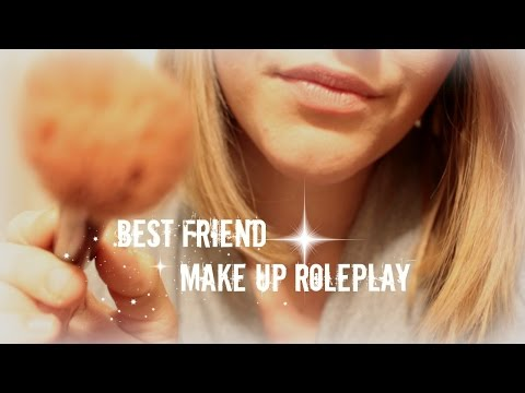 ASMR Best Friend Makeup Roleplay in German/Deutsch ♡ Whispered