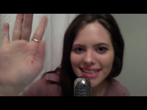 ASMR Repeating The Word Channel, Mouth Sounds, Gum Chewing, & Hand Movements
