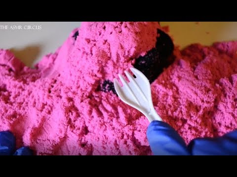 ASMR Tingly Tascam Excavation . A Mic Covered in Kinetic Sand