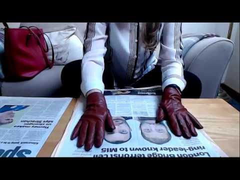 ASMR Newspaper Page Turning Wearing Leather Gloves Intoxicating Sounds Sleep Help Relaxation