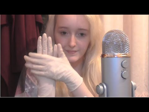 ASMR - Sounds of Latex Gloves - Ear-to-Ear for Relaxation