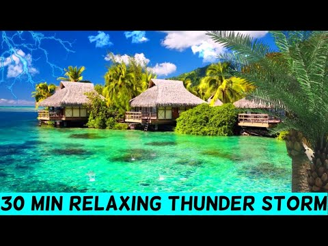 🎧 30 Minute Rolling ⛈️ ThunderStorm and Rain Sounds For Sleep 😴