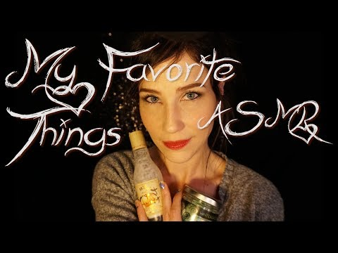 My Favorite Things ASMR | Candy Mouth Sounds :) Lotion Massage :) Whispers