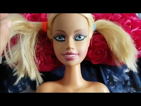 Asmr Brushing Barbie's Face and Tapping on her! ~~ Tingles ~~