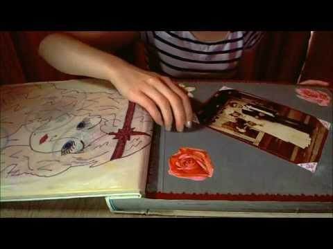ASMR Vintage Photo Album Tapping, Scratching and Wax Paper