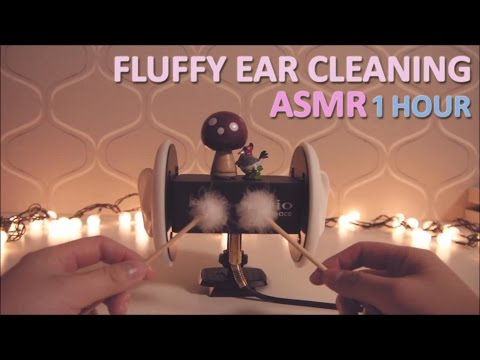 ASMR. 솜털귀청소 1 Hour Fuffly Ear Cleaning (No Talking)