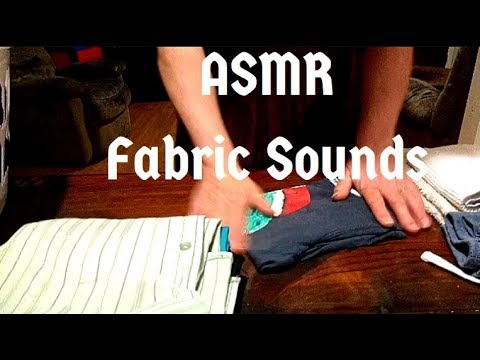 ASMR - Folding Laundry || No Speaking || Fabric Sounds