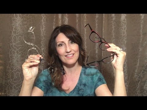 ASMR Glasses Try On Haul!   Unboxing   Gentle Tapping & Scratching   Fabric Sounds   Firmoo Review