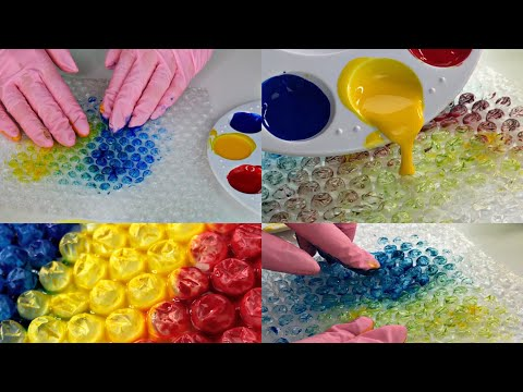 ASMR Painting on Bubble Wrap