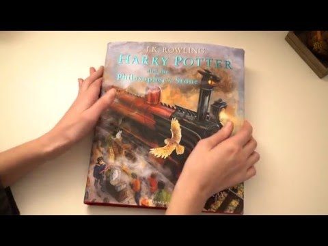 ASMR Harry Potter Illustrated Book | Quick Page Turning | Whispering | Tapping