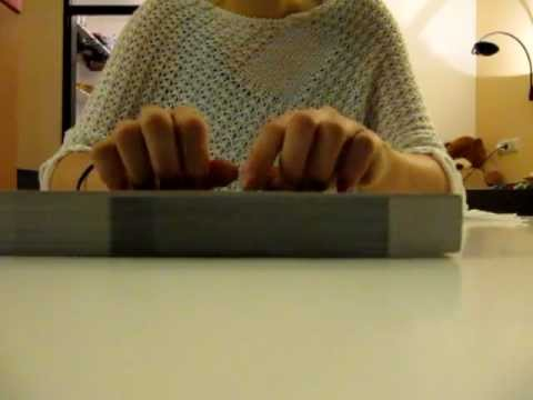 2nd video, nail tapping, scratching and page turning, ASMR