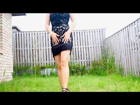 Walking With High Heels On Different Surfaces With My New Year Outfit (ASMR walking sound)