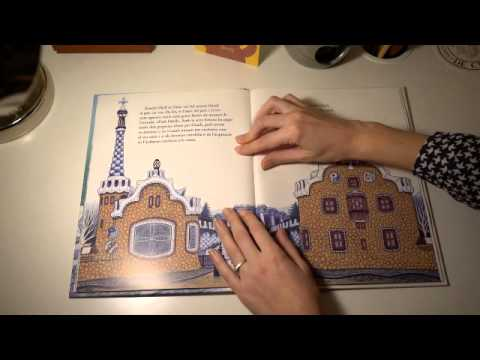 ASMR | Reading Gaudi Children's Book in Catalan | Whispering | LITTLE WATERMELON