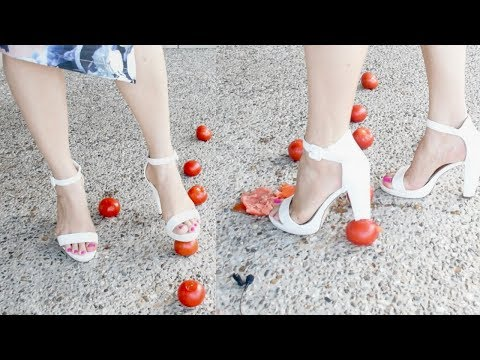 ASMR Crushing Tomatos With High Heels To Activate Your Tingles( no talking )