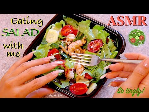 🍽 NEW TRIGGER for You! 🥗 EATING BIG SALAD: never been so tingly!  🎧 intense 3D real ASMR ✦