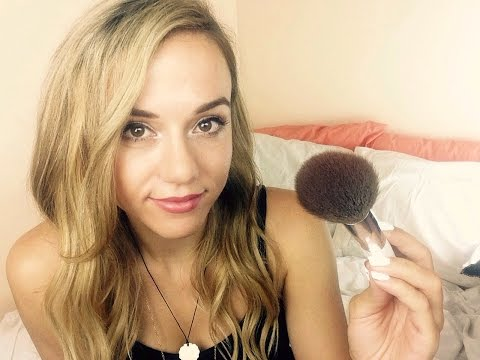 ASMR Make Up Role Play   Face Brushing/Personal Attention