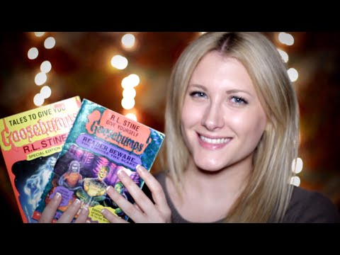 Time Travel Tingles: Goosebumps Books (Binaural ASMR, Soft Spoken, Tapping, Reading, Page Turning)