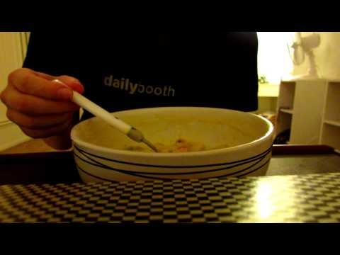 Eating ASMR: Chicken and dumpling soup (front view)