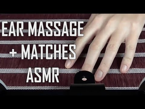 ASMR Binaural Ear Massage and Touching + Matches Lighting and Sounds (No Talking)