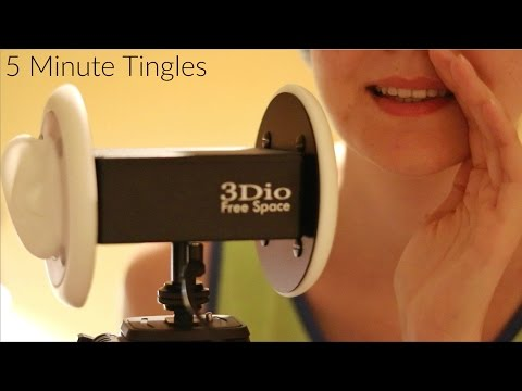 Binaural ASMR ♥ Inaudible Whisper w/ Mouth Sounds