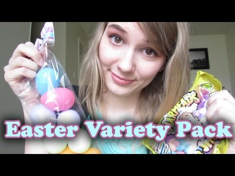 [BINAURAL ASMR] 🐰 Easter Variety Pack! 🐰 (chewing jelly beans, mouth sounds, crinkling, tapping)