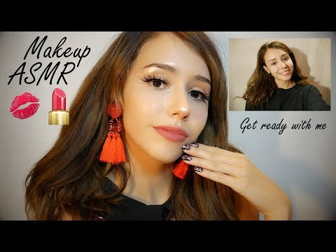 ASMR Makeup Tutorial Makeover 💄 - before and after (whispering, tapping, sounds)