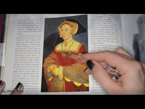 ASMR Tracing Photos with Echoing German Whispers 📖✍️💤