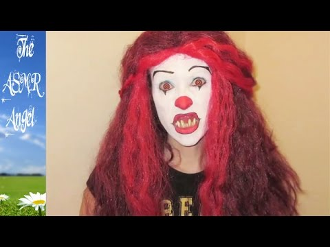 Pennywise the Clown from Stephen King's IT Makeup tutorial - ASMR