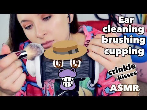 Ear cleaning, brushing, cupping *ASMR