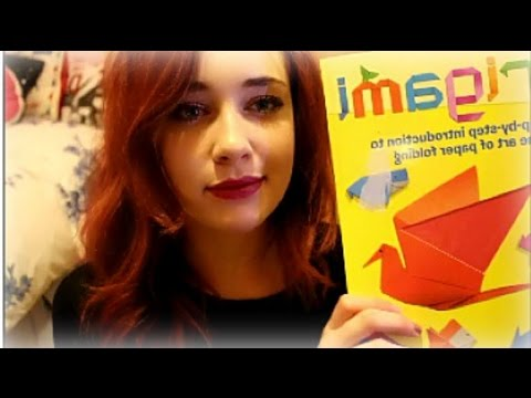 ASMR ~≈delicate origami≈~ with soft whispering and crinkling!